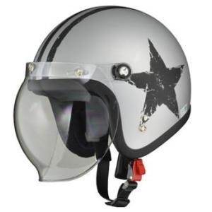 LEAD リード工業 MOUSSE ジェットヘルメット STAR SILVER | ジェット ヘルメットバイク 原付 クリア シールド バブルシールド インナー デザイン 交換 開閉 UV|desir-de-vivre