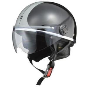 LEAD リード工業 O-ONE ハーフヘルメット BK/SV | ハーフ ヘルメット ヘルメ レディース 原付 かわいい ライト スモーク シールド インナー 交換|desir-de-vivre