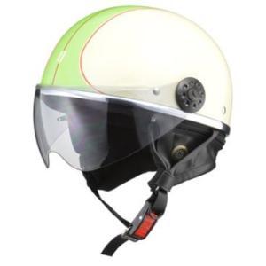 LEAD リード工業 O-ONE ハーフヘルメット IV/GR | ハーフ ヘルメット ヘルメ レディース 原付 かわいい ライト スモーク シールド インナー 交換|desir-de-vivre