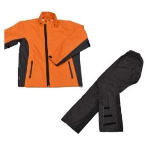 LEAD リード工業 RW-054 スリムレインスーツ オレンジ Lサイズ | バイクウェア レインスーツ レインウェア ウェア パンツ インナー スリム 軽量釣り アウトドア|desir-de-vivre