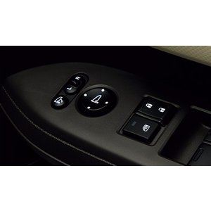 HONDA ホンダ N-BOX SLASH NBOX スラッシュ 純正 ドアミラースイッチ 照明付 交換タイプ / 発光色ホワイト 2014.12〜仕様変更|desir-de-vivre