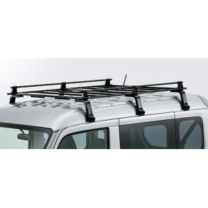 ルーフキャリア ハイルーフ用  長尺の資材や脚立など荷室に収まりきらないアイテムの運搬に便利です。 ...