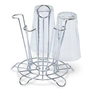 ワイヤーグラスラック スチール クロムメッキ 直径19 H20.5cm|desir-de-vivre