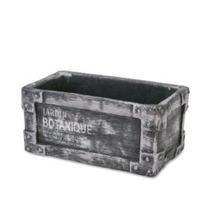 ポット レクタングル シルバー セメント W19 D10.5 H8.5cm desir-de-vivre