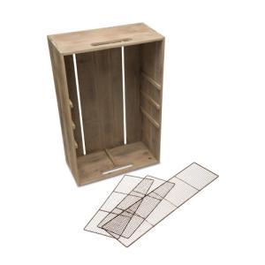 メッシュパーテーションボックス アイアン 杉 W40 D20 H60cm|desir-de-vivre