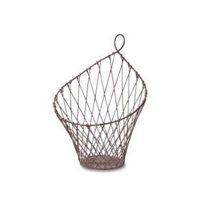 ウォールハンキングバスケット S アイアン W16.5 D15 H24cm|desir-de-vivre
