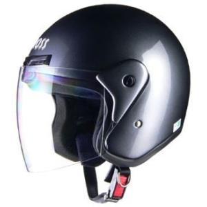 LEAD リード工業 CROSS CR-720 ジェットヘルメット ガンメタリック | ジェット ヘルメットバイク 原付 シールド 交換 ガンメタリック UVカット 通勤 通学|desir-de-vivre