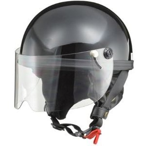 LEAD リード工業 HARVE HS-2 ハーフヘルメット ブラック | ハーフ ヘルメットレディース 原付 シールド カバー 開閉 交換 半帽 UVカット通勤 通学 人気|desir-de-vivre