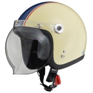 LEAD リード工業 BARTON BC-10 ジェットヘルメット アイボリー×ネイビー | ジェット ヘルメット レディース シールド バブルシールド 交換 開閉 風 虫 雨 対策|desir-de-vivre