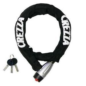 LEAD リード工業 CREZZA LW-009 リンクロック LW-009A ブラック | ロック 鍵 スペアキー 盗難防止 盗難 防犯 対策 駐車 駐輪 ロゴ ブラック 二重構造 切断防止|desir-de-vivre