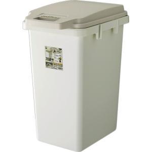 ワンハンドパッキンペール 70JS RSD-72   ゴミ箱 おしゃれ キッチン 70リットル 分別 フタ付き ダストボックス におい パッキン 北欧 シンプル ホワイト desirdevivre-zacca