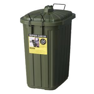 ペールカン 60L LFS-937GR   ゴミ箱 ダストボックス ペールカン 60L フタ付 おしゃれ ガレージ 屋外用 キッチンペール くず入れ 分別 国産 取っ手付 グリーン desirdevivre-zacca