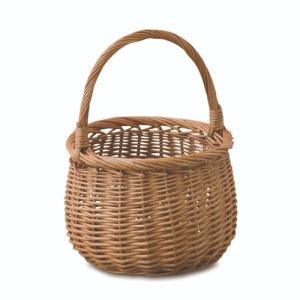 ウィッカーバスケット 柳 直径23 H30 16 cm|desirdevivre-zacca