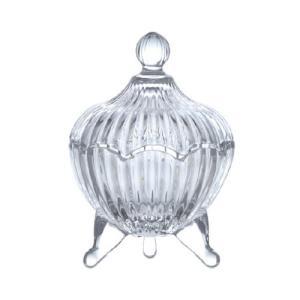 キャンディーポット ガラス 直径9 H13.5cm|desirdevivre-zacca