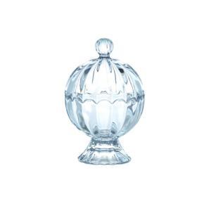 送料無料 キャンディーポット ガラス 直径9 H13.5cm|desirdevivre-zacca