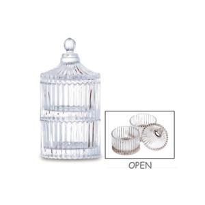ガラスキャニスター ガラス 直径7 H14cm|desirdevivre-zacca