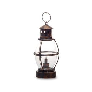 LEDランタン ガラス アイアン W12 D14 H31.5 27.5 cm|desirdevivre-zacca