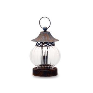 LEDランタン ガラス アイアン 直径12 H26 22 cm|desirdevivre-zacca