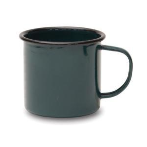 マグカップ L グリーン ホーロー W12 D9 H8cm|desirdevivre-zacca