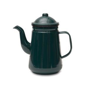 コーヒーポット グリーン ホーロー W20 直径9.5 D12 H21cm desirdevivre-zacca