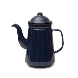 コーヒーポット ネイビー ホーロー W20 直径9.5 D12 H21cm desirdevivre-zacca