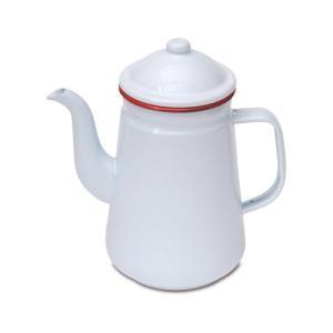 コーヒーポット レッド ホーロー W20 直径9.5 D12 H21cm desirdevivre-zacca