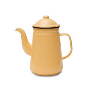 コーヒーポット イエロー ホーロー W20 直径9.5 D12 H21cm desirdevivre-zacca