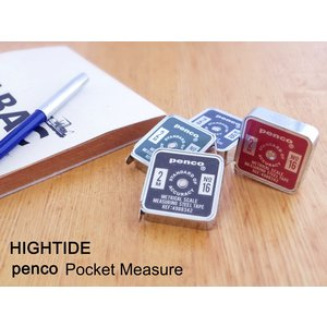 HIGHTIDE/ハイタイドのコンパクトでスタンダードなフォルムのポケットメジャー。 ステンレス製の...