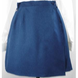 ceba6c892e8d6e Wラップキュロットスカート日本製 紺 花紺 おしゃれユニフォーム WLK6 S M L 2L 3L 4L