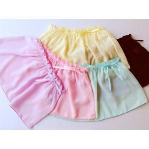 【特別価格40%OFF】ふんわりシルエットでキュートさアップ♪ 子供用リボンワンタッチスカート【子供用バレエスカート】|dessus-y