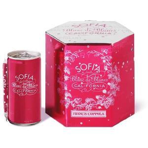 フランシス・コッポラ ソフィア NV ミニ ブラン・ド・ブラン モントレー 4缶入り|deuxhwine