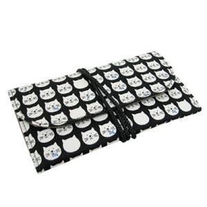 フカシロ シャグポーチ 18013810 ネコカオ BK ゆうパケット対応商品(1個まで)|deva-online