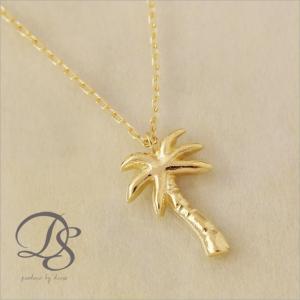 K18 ゴールド ヤシの木 ネックレス パームツリー マリン ハワイ 西海岸 海 レディース
