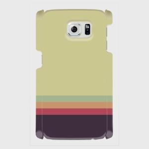 レトロ ストライプ 薄緑色 薄水色 橙色 赤色 紺色 Android アンドロイド スマホケース ハードケース|dezagoods