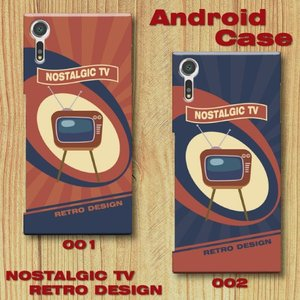 レトロポスター TV アメリカンポップ レトロデザイン ノスタルジック Android アンドロイド スマホケース ハードケース|dezagoods