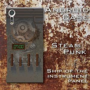 スチームパンク調 歯車 機械仕掛け レトロ 船 ブリッジ 操舵室 計器類 SF Android アンドロイド スマホケース ハードケース|dezagoods