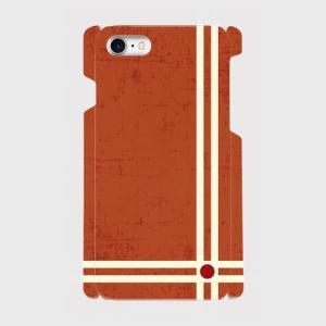 レトロ ストライプ 赤色 iPhone アイフォン スマホケース ハードケース dezagoods