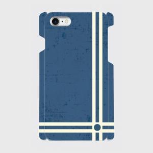 レトロ ストライプ 青色 iPhone アイフォン スマホケース ハードケース dezagoods