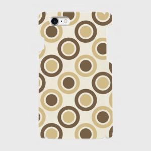レトロ 水玉 薄茶色 濃茶色 iPhone アイフォン スマホケース ハードケース dezagoods