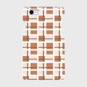チェック柄 クリーム色 iPhone アイフォン スマホケース ハードケース dezagoods