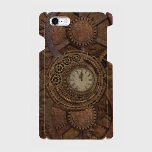 スチームパンク 古時計 gear 002 iPhone アイフォン スマホケース ハードケース|dezagoods