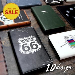 スマホケース 全機種対応 手帳型 ベルト無し カジュアル 個性的 iPhone11 iPhoneXS...
