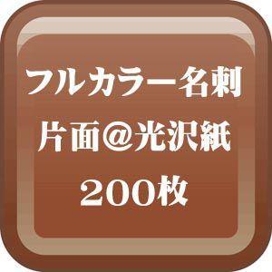 格安カラー名刺印刷-片面 光沢紙名刺 200枚 |dgmode