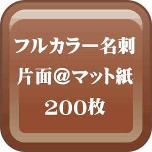 格安カラー名刺印刷-片面 マット紙名刺 200枚 |dgmode