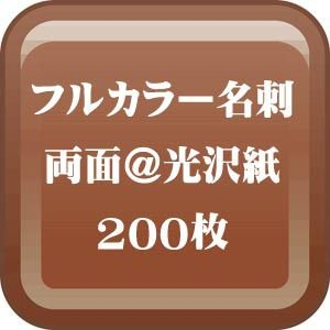 格安カラー名刺印刷-両面 光沢紙名刺 200枚 |dgmode