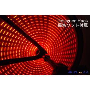 Anvii 自転車用LEDワイヤレスホイールライト3本セット(Designer Pack, レッド) 編集ソフト付属|dgmode