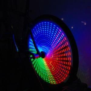 Anvii 自転車用LEDワイヤレスホイールライト3本セット(RGB)|dgmode