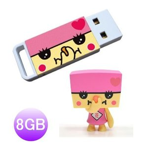 i-Disk Stinky TO-FU ローズ(Rosy)USBフラッシュメモリー 8GBとフィギュア |dgmode