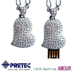 PRETEC  i-Disk Sparkling AmourスワロフスキークリスタルUSBフラッシュメモリー8GB dgmode