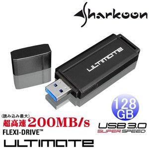 Sharkoon  Flexi-Drive Ultimate  USB3.0対応フラッシュメモリ  128GB|dgmode